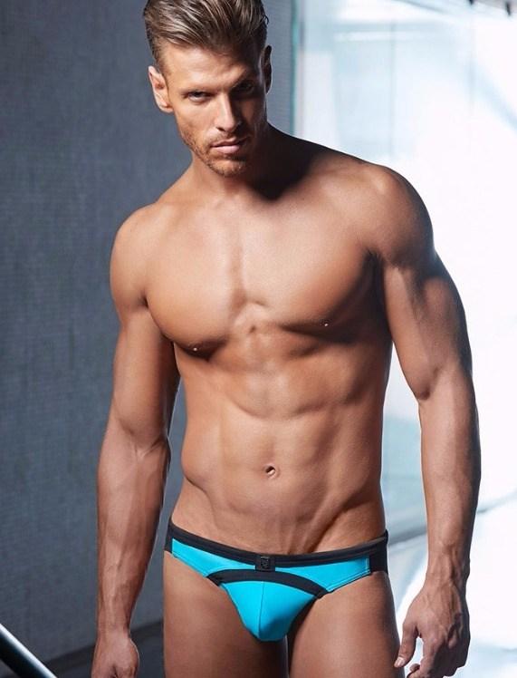 seareef swimwear brief aqua black